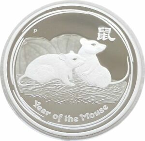 2008-Australia-Perth-Mint-Lunar-Mouse-2-Two-Dollar-Silver-Proof-2oz-Coin