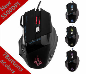 For-Pro-Gamer-5500-DPI-7-Button-LED-Optical-USB-Wired-Gaming-Mouse-Mice-CheapYT