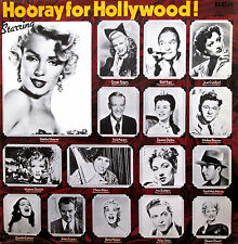 Hooray For Hollywood! Marilyn Monroe Ginger Rogers Harpo Marx etc NM/EX Vinyl LP