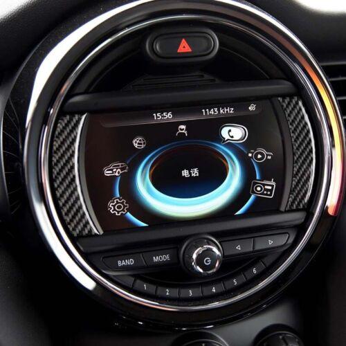 Carbon Fiber Car Navigation Screen Sticker Trim Fit For Mini Cooper F55 F56 F60