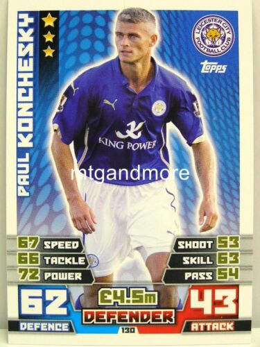 #130 paul konchesky-leicester Match coronó 2014//15 Premier League