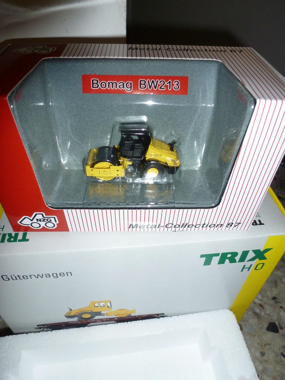 Trix Schwerlastwagen Schwerlastwagen Schwerlastwagen mit einer Bomag BW213  Nr. 24118  | Neuheit Spielzeug  c1b3a4