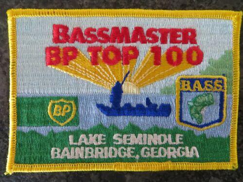 Rare Vintage Bassmaster Top 100 Tournament Patch Lake Seminole Georgia