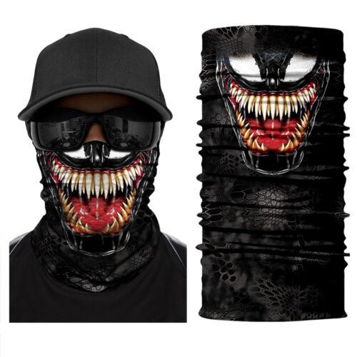 Venom Style Multifunktionstuch Halstuch Schlauchschal Schal Motorrad Biking