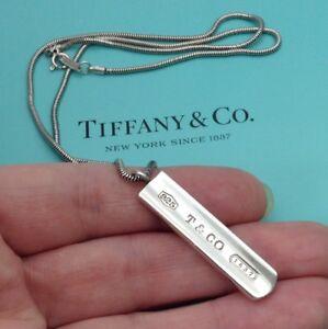 e62552e56 Tiffany & Co. Sterling Silver 1837 Bar Pendant 18