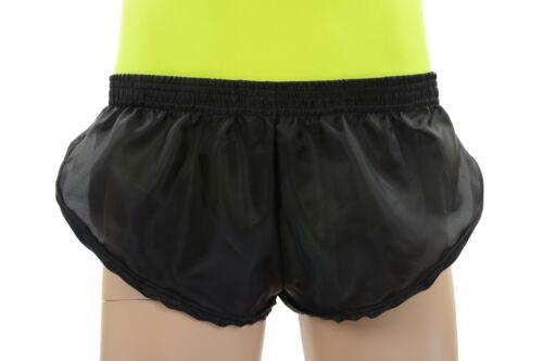 Athletics Gym Jogging Running Tri Mens Sheer Black Polyester Sprinter Shorts
