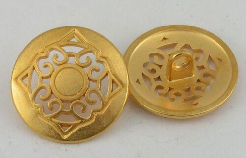 8 Metallknöpfe Knöpfe  23mm gold 07.25m