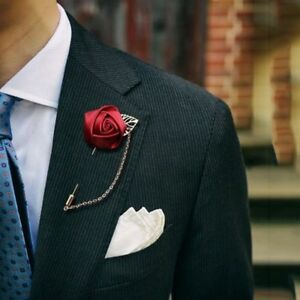 1daa8c0400b Image is loading Wedding-Flower-Corsage-Lapel-Pin-Brooch-Suits-Boutonniere-