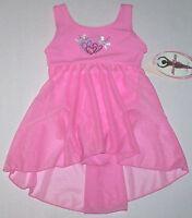 Moret Leotard Dress Skirt Skirtall Heart Shimmer Tank Babydoll Pink Girl