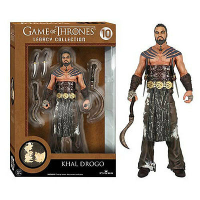 HBO GAME OF THRONES Legacy Collection Action Figure KHAL DROGO Dothraki w/ Arakh