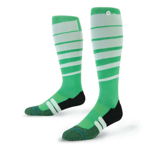 NEW NWT STANCE PRO SERIES GROOVE MOTO SOCKS IN GREEN SIZE LARGE LG L