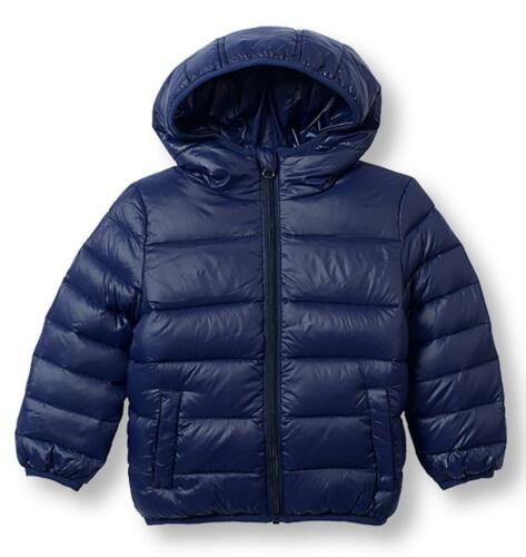 Le Top Little Boys Rush Hour Navy Blue Down Jacket with Hood Winter Coat New