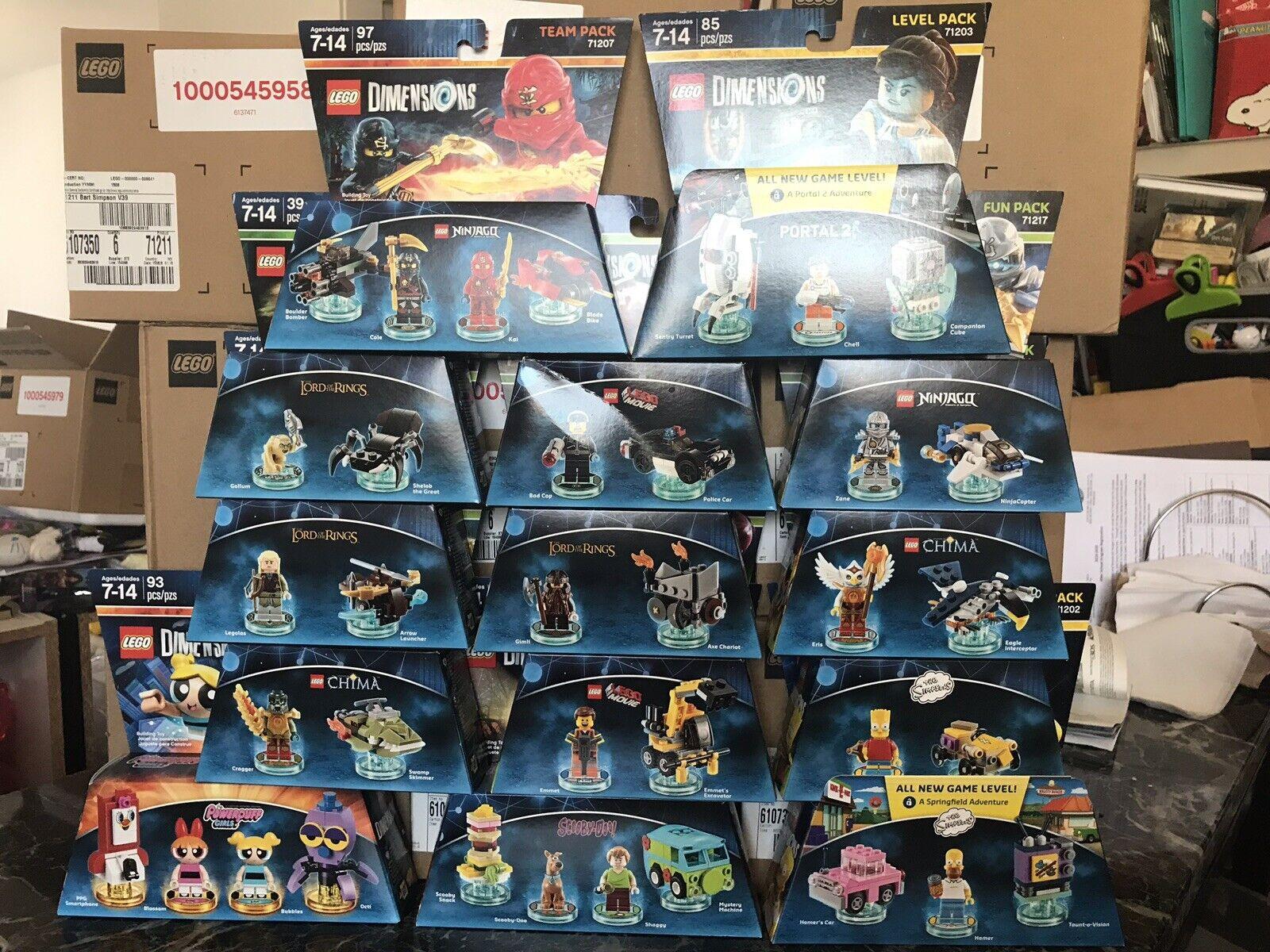 spedizione veloce e miglior servizio Lego Dimensions Set of of of 14 Ninjago Scooby-Doo Portal The Simpsons Bundle nuovo  classico senza tempo