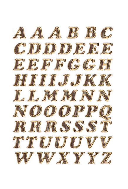 Buchstaben 8 mm A-Z gold, glitzernd Prismaticfolie, HERMA Vario 4192