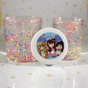 Scented-Clear-SLIME-034-Lots-O-Dots-034-Stretchy-Thick-Rainbow-Color-Glitter-2-4-6-8oz