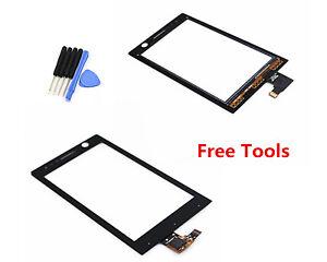 Touch Screen Digitizer Lens For Sony Xperia U ST25i ST25 ST25A Kumquat Black Ts