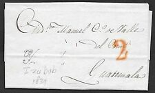 Spain covers 1839 folded letter IZABAB to Guatemala  destination!