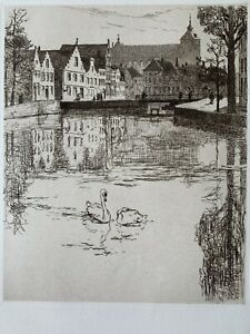 Armington print water strong etching the that throughout Bruges Belgium