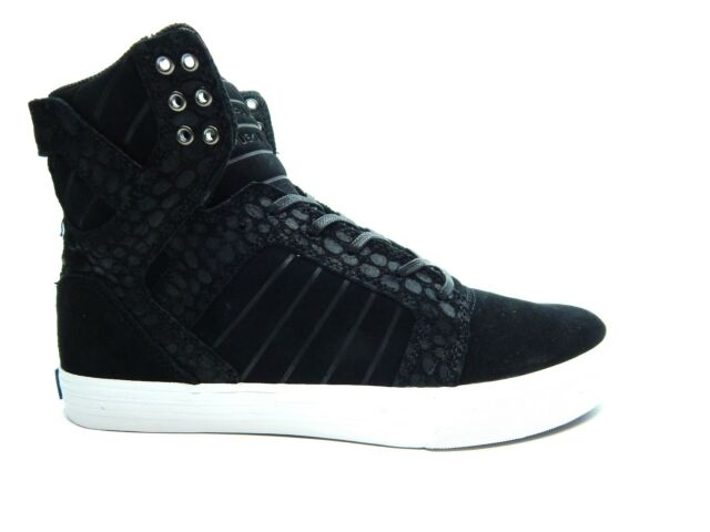 f7b6b2db52 SUPRA Skytop Mens Black Suede High Top Lace up SNEAKERS Shoes 9 for ...
