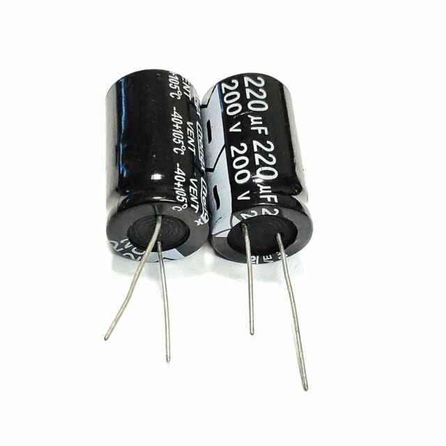5PCS 200V 47uF 47MFD Electrolytic Capacitor 10×20mm