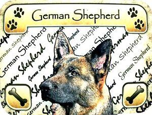 I Love My German Shepherd Dog Bone Magnet 2x7 inch Decal for Car Truck or Fridge