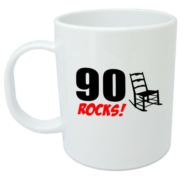 90 Rocks 90th Birthday Gift Mug Ideal Gifts For Year Old Men Or