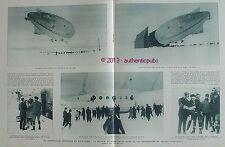 BALLON DIRIGEABLE NORGE EXPEDITION AERIENNE POLE NORD COMMANDANT BYRD DE 1926 AD