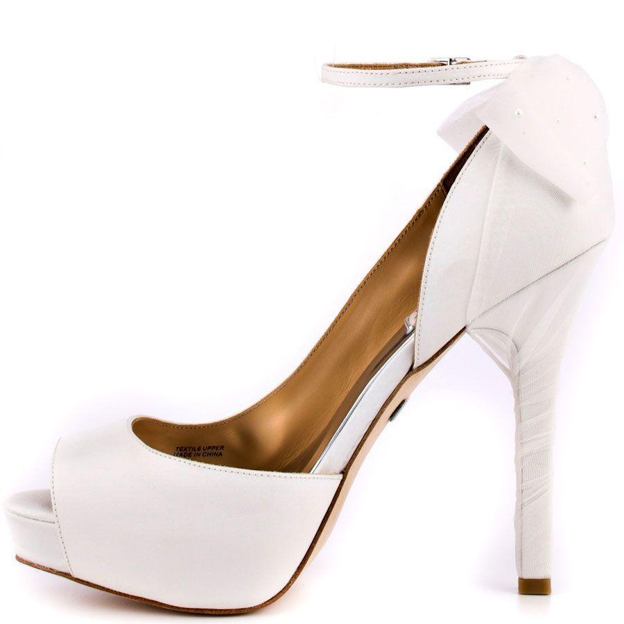 Nuevo En Caja Caja Caja Badgley Mischka Zakia Boda Nupcial Tacones De Seda Sandalias Zapatos Arco blancoo 8,5 ef135e