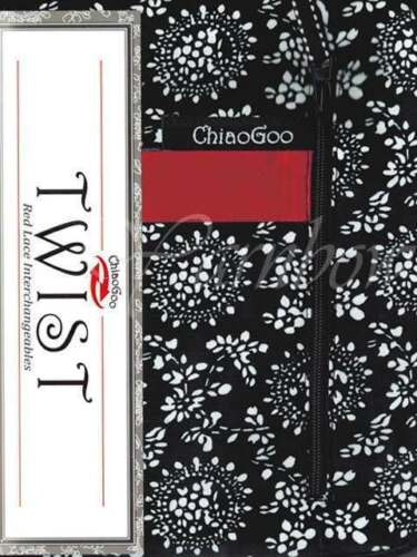 ChiaoGoo ::TWIST 4 Red Lace Interchangeable:: Complete: US 2-15 (2.75-10.0 mm)