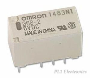 OMRON-ELECTRONIC-COMPONENTS-G6S-2-Y-3DC-Relais-Dpdt-2A-3VDC-EN60950