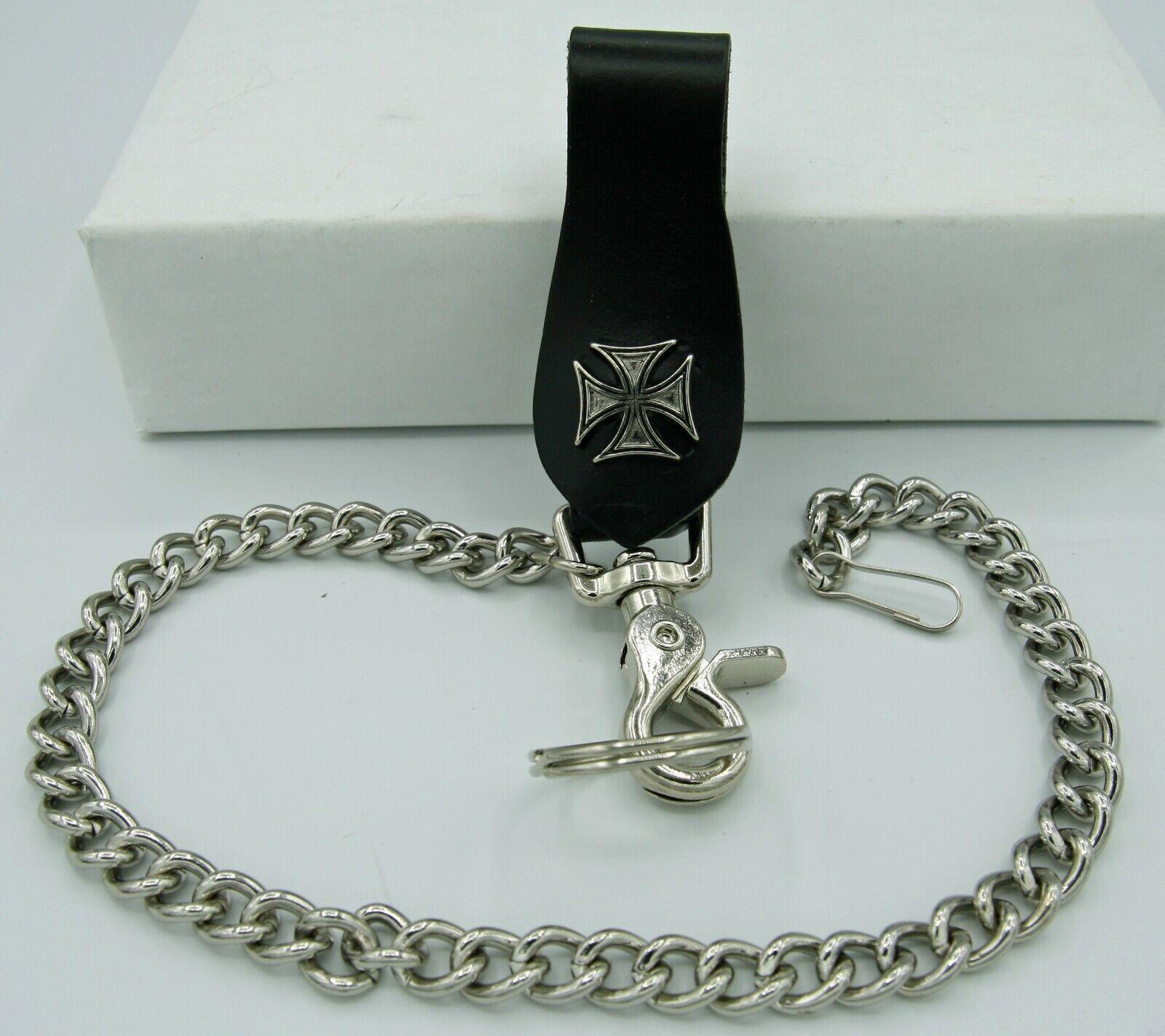 Wallet Chain Key Fob Ring Biker Trucker Replacement Iron Cross K18IC