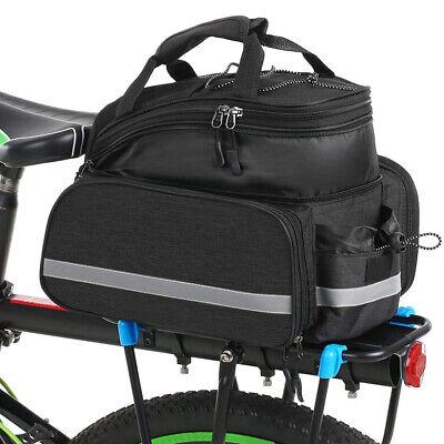 MTB Carrier Expandable Cycling Pack Rear Seat Bag Bike Pannier Pouch Saddle Bags