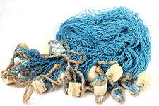 Deko Fischernetz Blau 340 x 340 cm mit Holzschwimmern