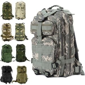 Outdoor Military Tactical Backpack Rucksacks Sport Camping Hiking ...