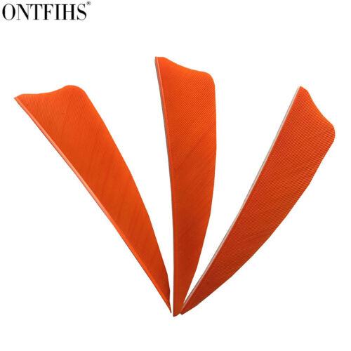 "200pcs 3/"" Orange Shield Cut Archery Fletches Feather Fletching Arrow Feathers"