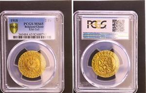 2 Franken 1918 Gent Dorado Oficial Notgeld sin Circulación PCGS MS65