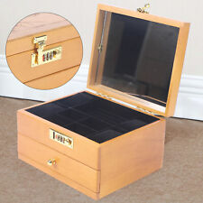 Multi Layer Wooden Storage Box Armoire Ring Necklace Watch Gift Storage Box