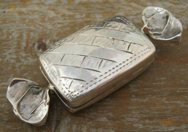 Birmingham Hallmarked Solid Sterling Silver Sweet Box Pill Keepsake Sweetheart