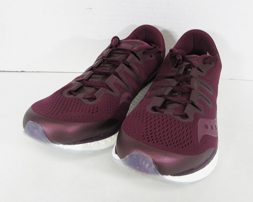 160 Saucony Mens Freedom ISO Running Sneaker shoes, Burgundy, US 11.5