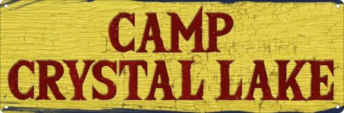 Camp Crystal Lake Slim Tin Sign 30.5x10.1cm