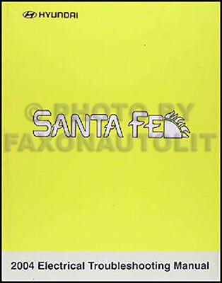 2004 Hyundai Santa Fe Electrical Troubleshooting Manual ...