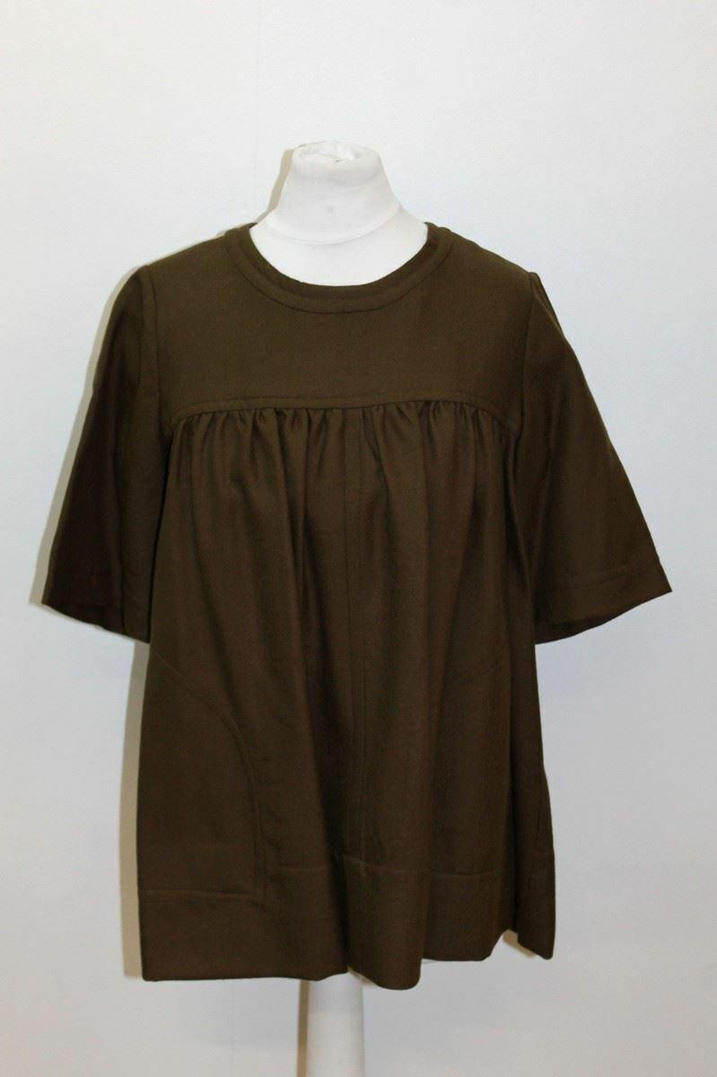 ETOILE ISABEL MARANT Ladies Khaki Grün Wool Short Sleeve Crew Neck Top 0 XS
