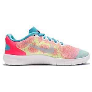 42beb4f4d94b NEW Nike Free RN 2017 GS Run Pink Blue Kids Girls Running Shoes ...