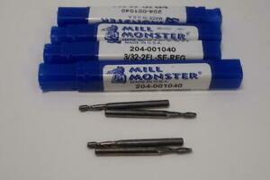 4-NEW-Mill-Monster-3-32-034-2FL-Solid-Carbide-End-Mill-USA-Made-204-001040