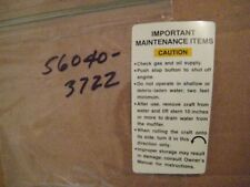KAWASAKI JET SKI JS300 WARNING/MAINTENANCE LABEL/DECAL NOS!