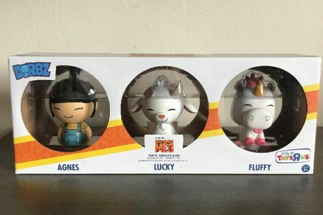 FUNKO DORBZ DESPICABLE ME 3 AGNES LUCKY FLUFFY 3 PACK EXCLUSIVE VINYL FIGURE SET