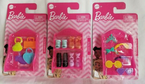 NEW Barbie Doll Fashion Accessories Headband Shoe Heels Handbag Purse Pack LOT