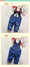NEW!Baby boys MICKEY overall denim trousers pants 18-24 month