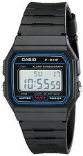 Casio F91W-1 Classic Resin Strap Digital Sport Watch Black Gift Top Quality New