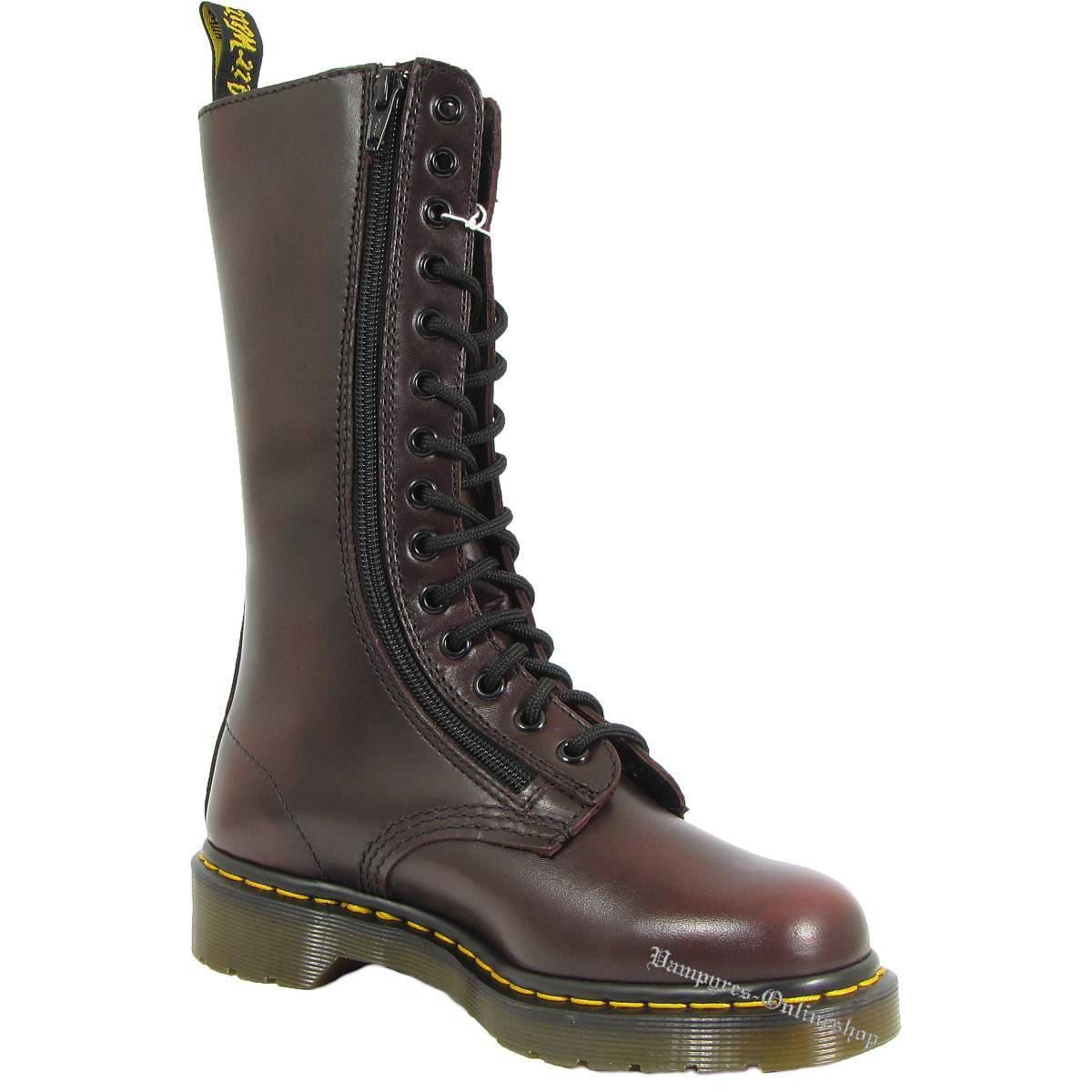 Dr. Martens 14-Loch 9733 Red Vintage Stiefel Rot 11305600 Docs Boots Doc Schuhe